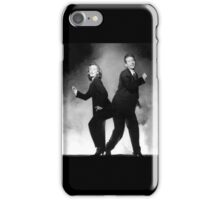 silly mulder and scully iPhone Case/Skin