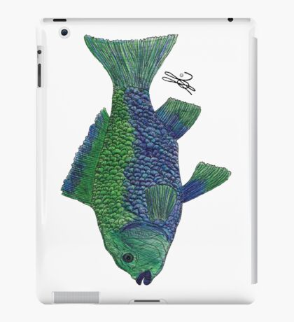 Green/Blue Fish iPad Case/Skin