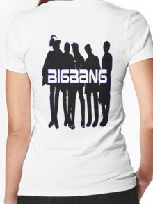 ♥♫Love BigBang Cool K-Pop Clothes & Phone/iPad/Laptop/MackBook Cases/Skins & Bags & Home Decor & Stationary♪♥ Women's Fitted V-Neck T-Shirt