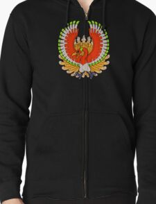 Ho-Oh, the Rainbow Pokemon Zipped Hoodie