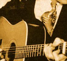 Hank Williams & His Guitar Sticker