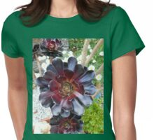 Dark Beauty - Aeonium Schwarzkopf Flower Womens Fitted T-Shirt