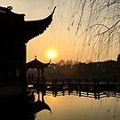 Sunset, Three Pools Mirroring the Moon, Hangzhou, China by Simone Maynard