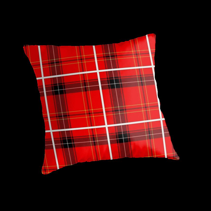 Red Tartan Plaid Throw Pillows :