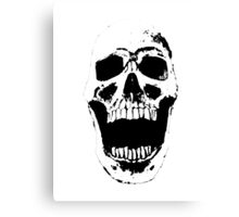 Skull w/ White Background Canvas Print