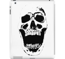 Skull w/ White Background iPad Case/Skin