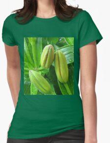 Refreshing Rain - Raindrops on Lily Buds T-Shirt