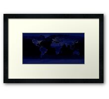 Global View of Earth's City Lights Framed Print