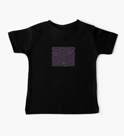 Pale Aubergine and Eggplant Abstract Pattern Kaleidoscope Baby Tee