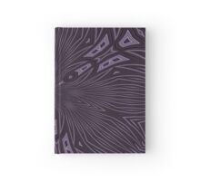 Pale Aubergine and Eggplant Abstract Pattern Kaleidoscope Hardcover Journal