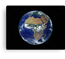 Full Earth Showing Africa and Europe during the day. Canvas Print