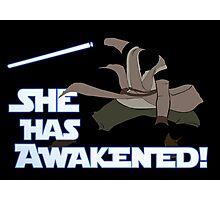 Movies - she has awakened Photographic Print