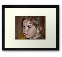 Little Miss Mia Framed Print