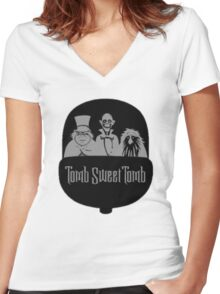 Tomb Sweet Tomb Women's Fitted V-Neck T-Shirt