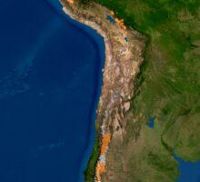 Glaciers in regions of South America. Sticker