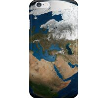 A global view over Europe and Scandinavia with Arctic sea ice. iPhone Case/Skin