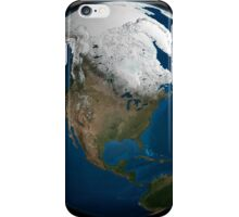 A global view over North America with Arctic sea ice iPhone Case/Skin