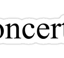 Concerts Sticker