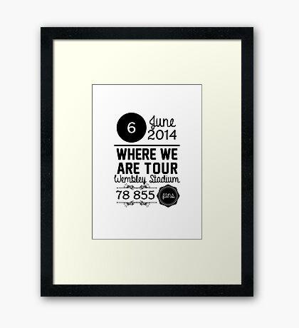 6th June - Wembley Stadium WWAT Framed Print