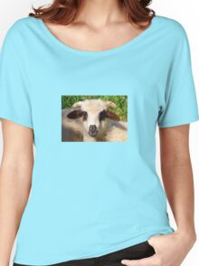 Sheep Portrait Close Up Women's Relaxed Fit T-Shirt