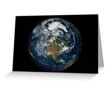 Full Earth showing North America. Greeting Card