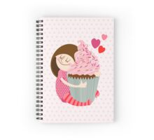 Girl and cupcake Spiral Notebook