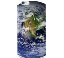 Full Earth showing North America (white background). iPhone Case/Skin