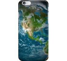 Full Earth view showing North America. iPhone Case/Skin