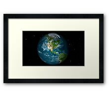 Full Earth view showing North America. Framed Print