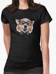 Smart Corgi Womens Fitted T-Shirt