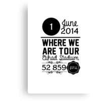 1st June - Etihad Stadium WWAT Canvas Print