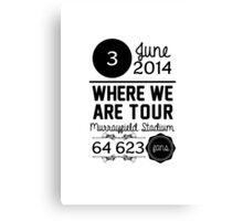 3rd June - Murrayfield Stadium WWAT Canvas Print