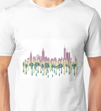 New York City, New York skyline - PCG Unisex T-Shirt