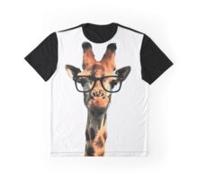 Hipster Giraffe Graphic T-Shirt