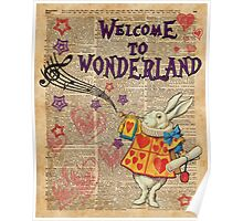 Rabbit Welcome To .. Alice In Wonderland Poster