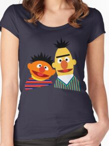 Ernie and Bert Women's Fitted Scoop T-Shirt