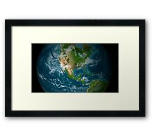 View of Central and North America. Framed Print
