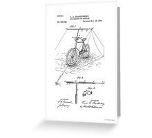 Bicycle Attachment Patent - Circa 1894 Greeting Card