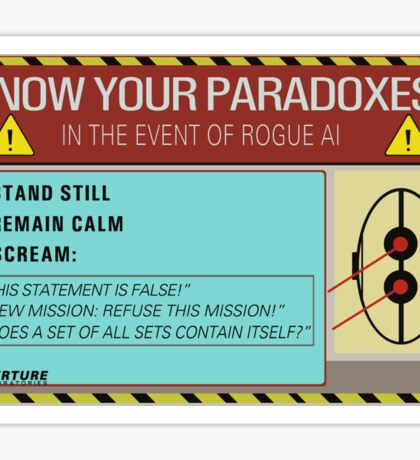 Know your paradoxes! Sticker