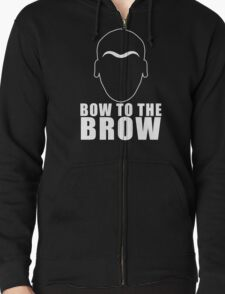 Bow To The Brow Funny Fury Brow T-Shirt
