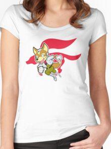 StarFox Cartoon Women's Fitted Scoop T-Shirt