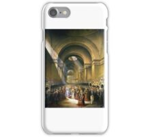 George Baxter - The Arrival of Her Most Gracious Majesty Queen Victoria at the House of Lords to Open Her First Parliament iPhone Case/Skin
