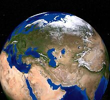 The Blue Marble Next Generation Earth showing the Middle East. by StocktrekImages