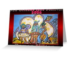 2006 New Orleans Jazz Festival Poster Greeting Card