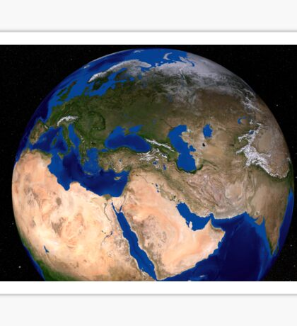 The Blue Marble Next Generation Earth showing the Middle East. Sticker
