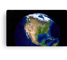 The Blue Marble Next Generation Earth showing North America. Canvas Print