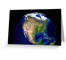 The Blue Marble Next Generation Earth showing North America. Greeting Card