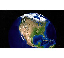 The Blue Marble Next Generation Earth showing North America. Photographic Print