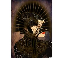 Lady with mask Photographic Print