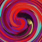 Modern Swirl Abstract Art #2 by Nhan Ngo